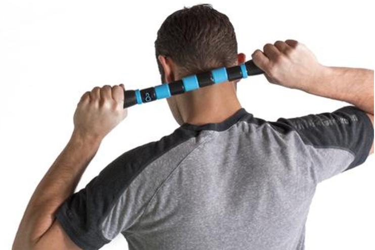 Neck Massage With Massage Stick