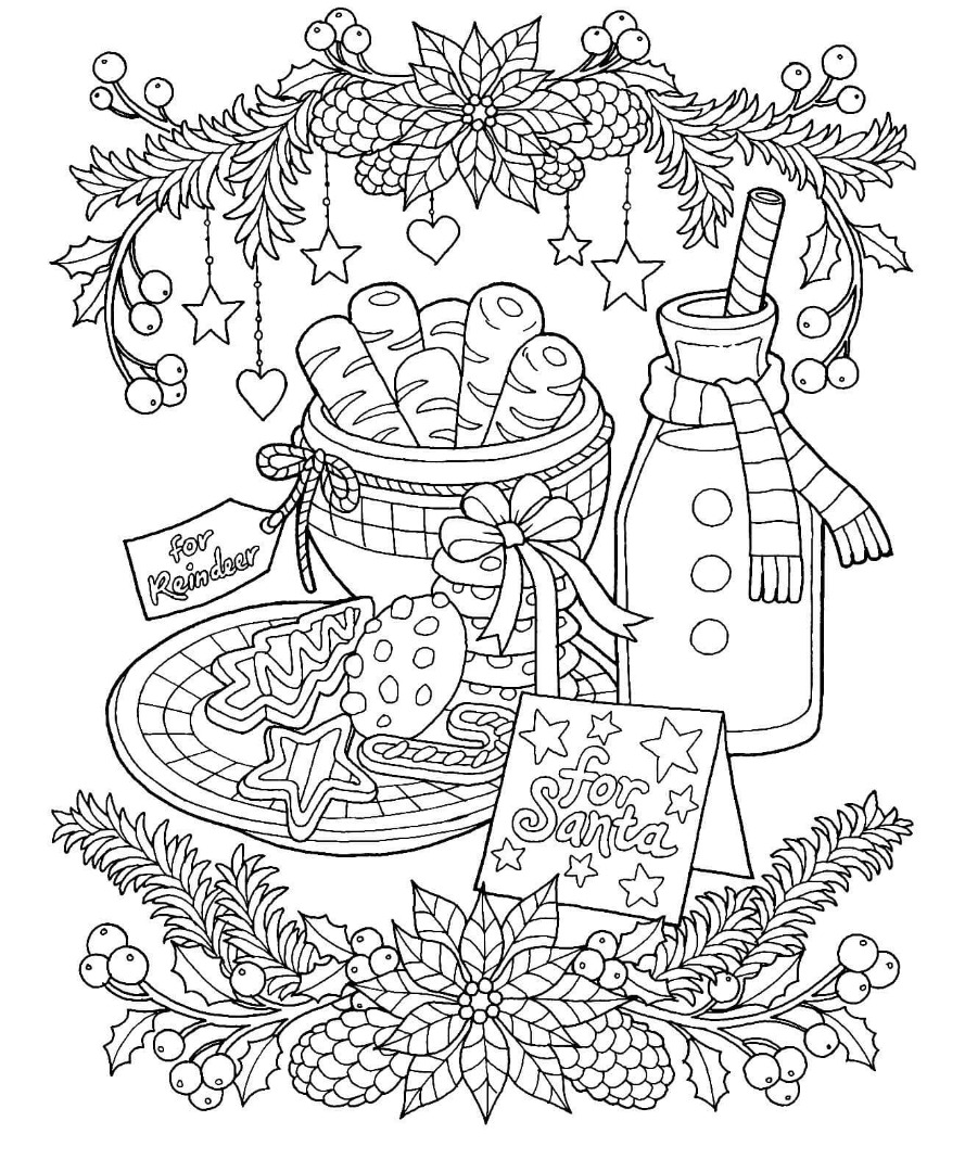 12 Free Christmas Coloring Pages / Drawings