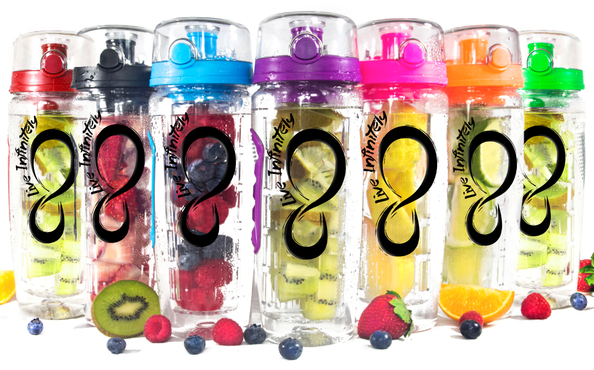 Infuser Water Bottle with Full Length Infuser Rod