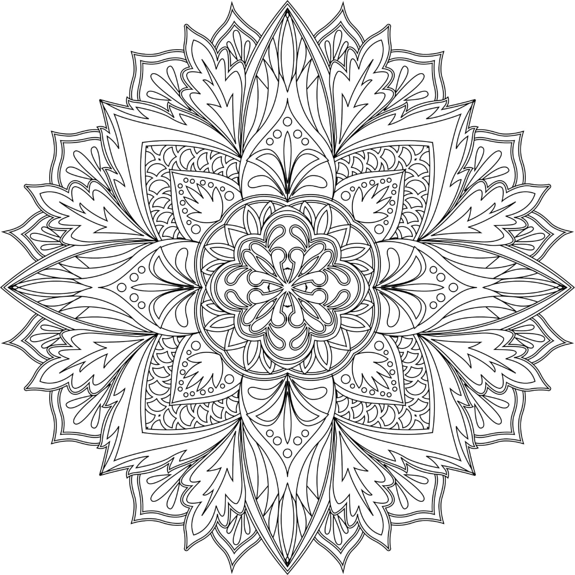 Mandalas To Color Volume 1 - Image 1