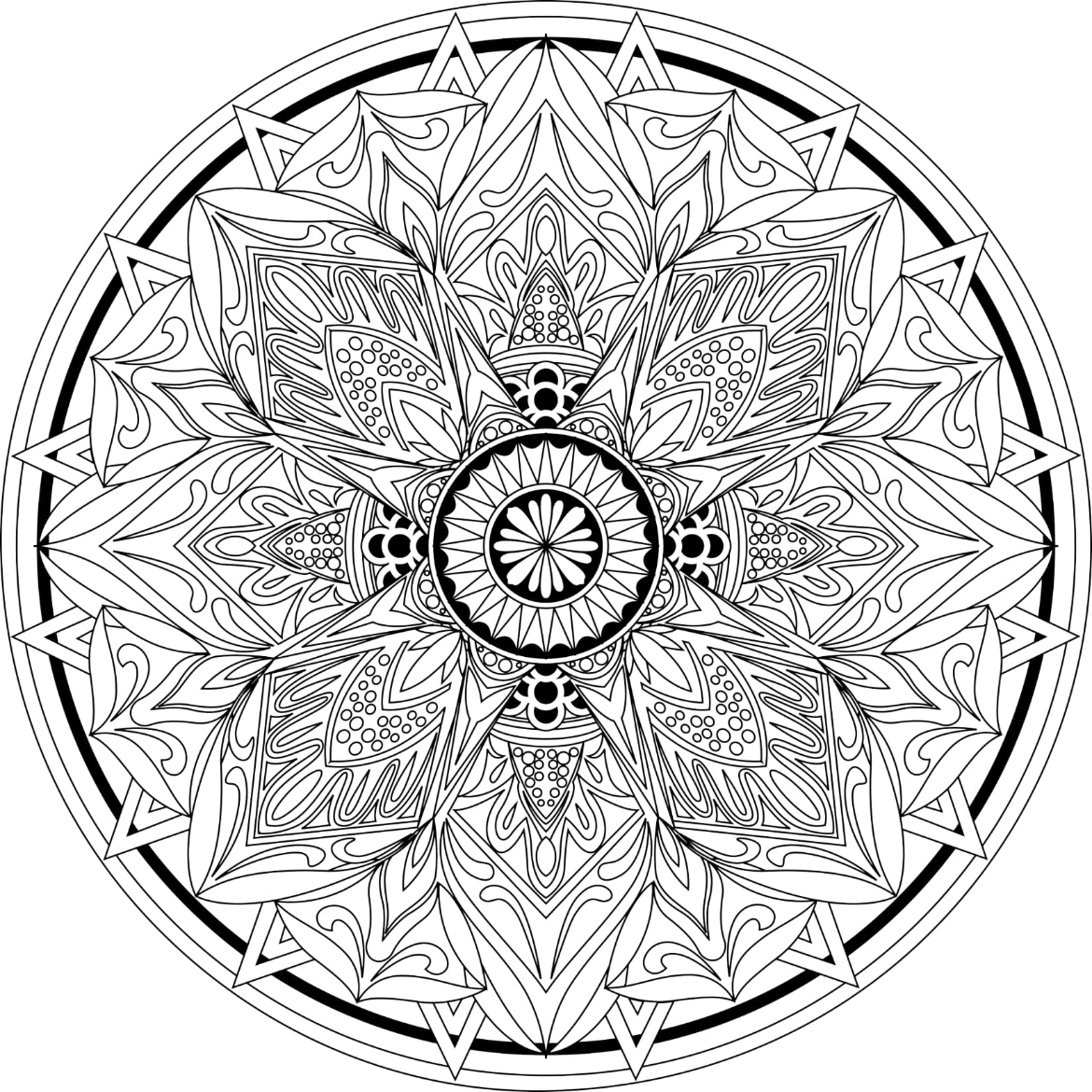 Mandalas To Color Volume 1 - Image 2