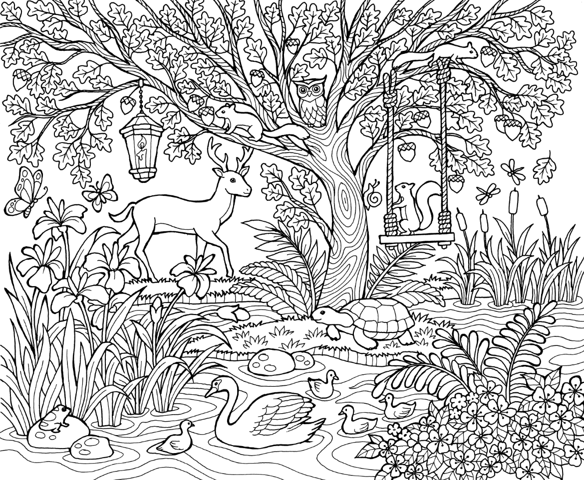 spring scene coloring pages - photo#32