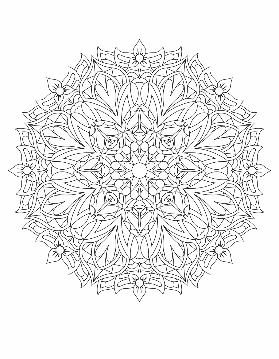 Mandalas Drawing 1