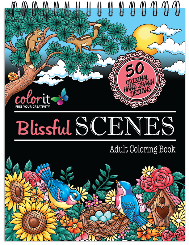 Blissful Scenes Coloring Book