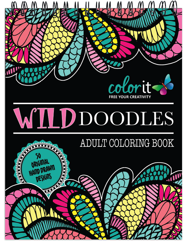 Wild Doodles Coloring Book