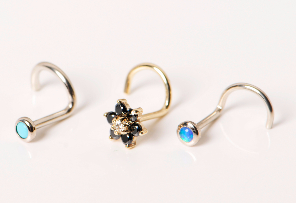 14K Gold Nose Rings