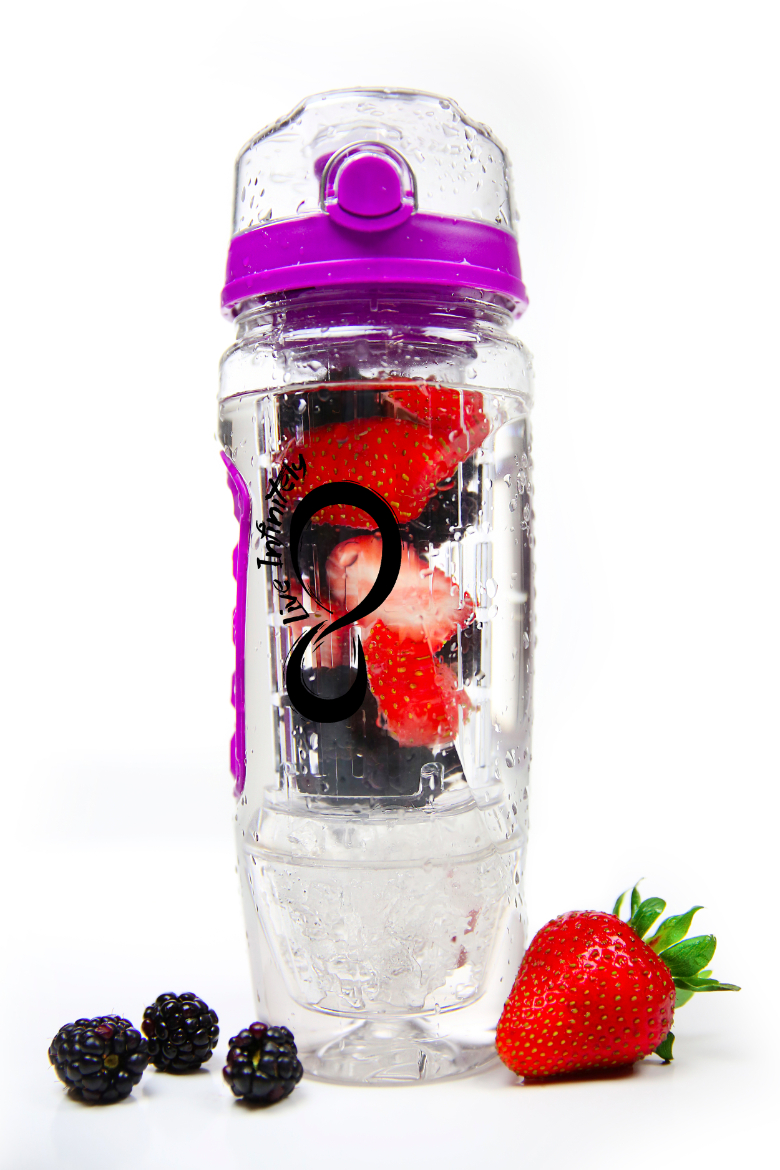 live infinitely fruit infuser water bottle