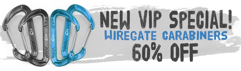 wiregate carabiners