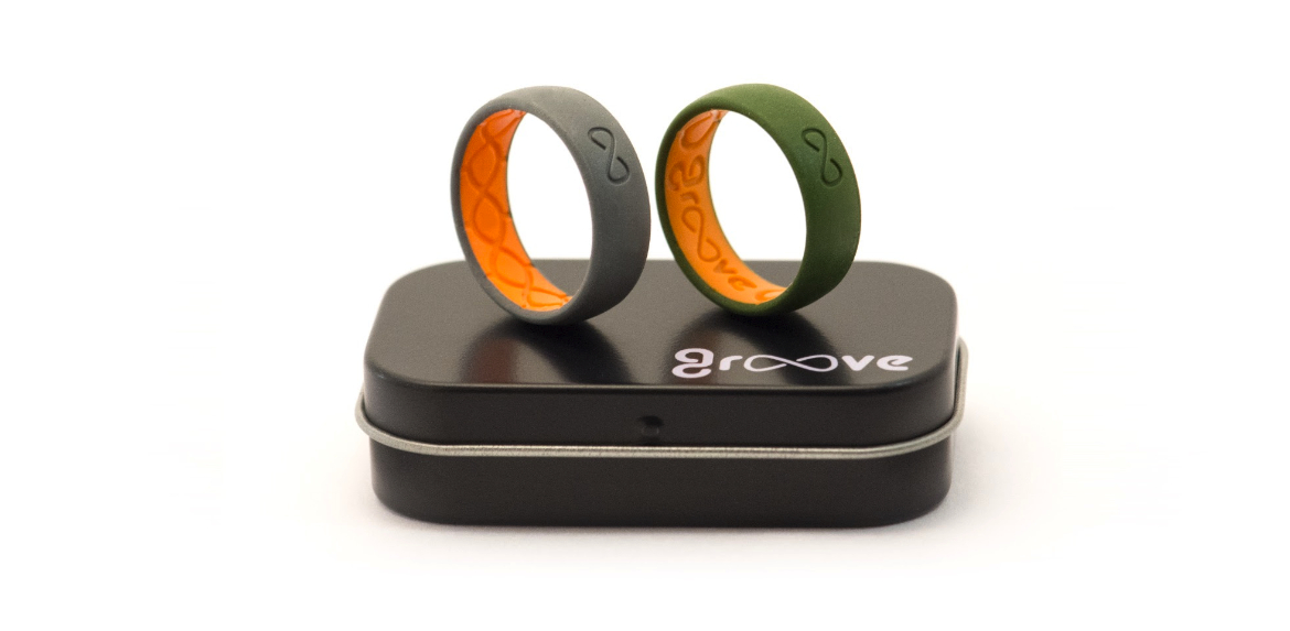 GROOVE silicone active breathable wedding ring