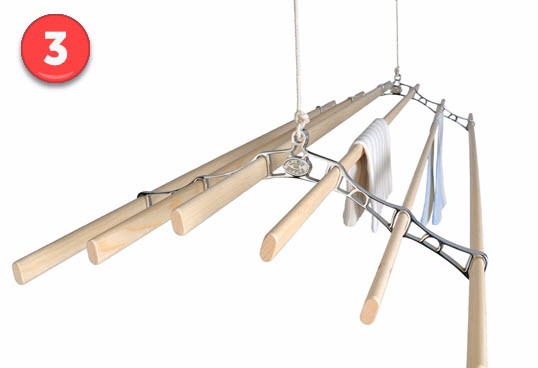 Six Lath Supreme Ceiling Airer