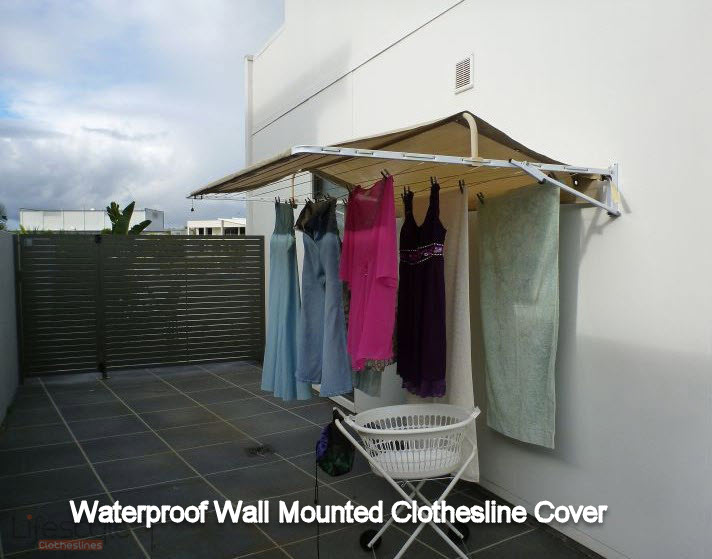 waterproof cover for wall mounted clothesline