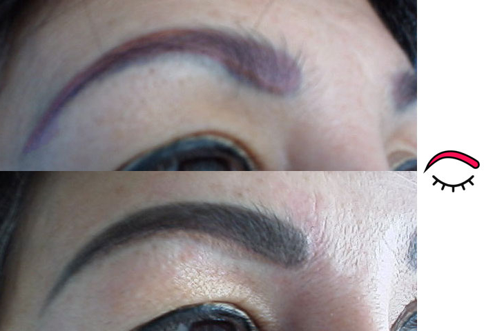 Before and After Eyebrows Permanent Makeup