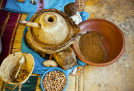 Moroccan Argan Oil being cold pressed