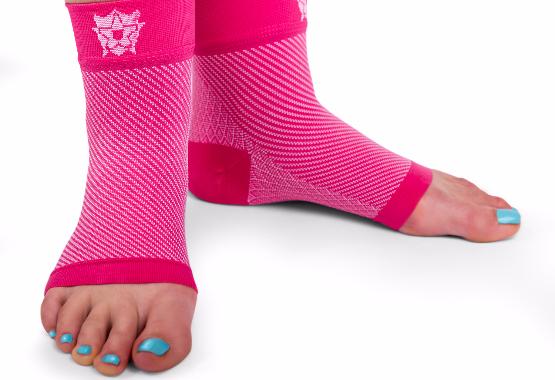 Pink Bitly Plantar Fasciitis Socks