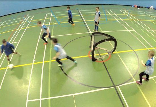 tri goal circular soccer