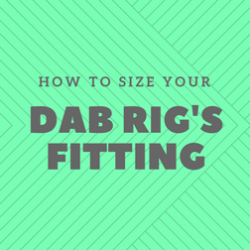 How to size your dab rig's fitting