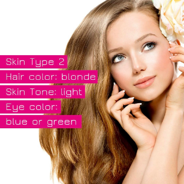 Fitzpatrick Skin Type 2 for permanent makeup and microblading Buypermanentmakeup.com