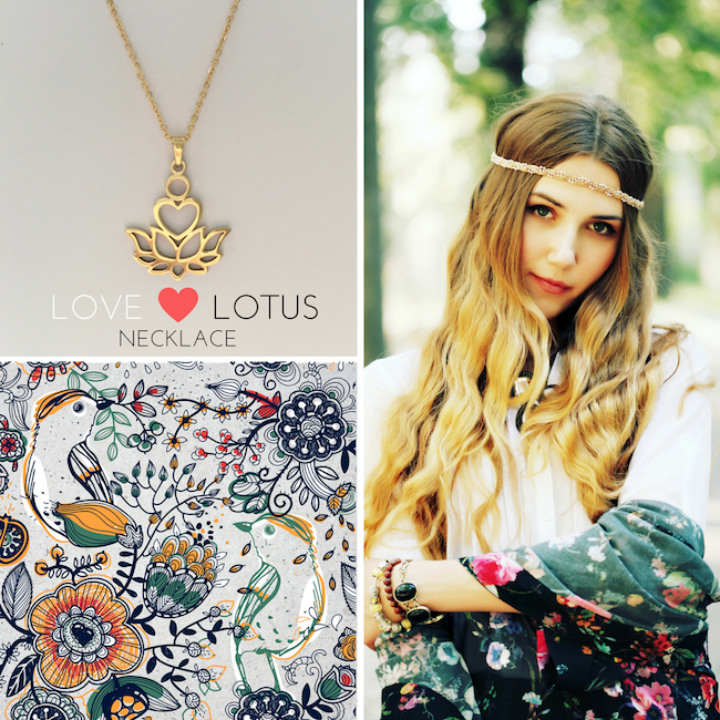 Love Lotus Silver Necklace