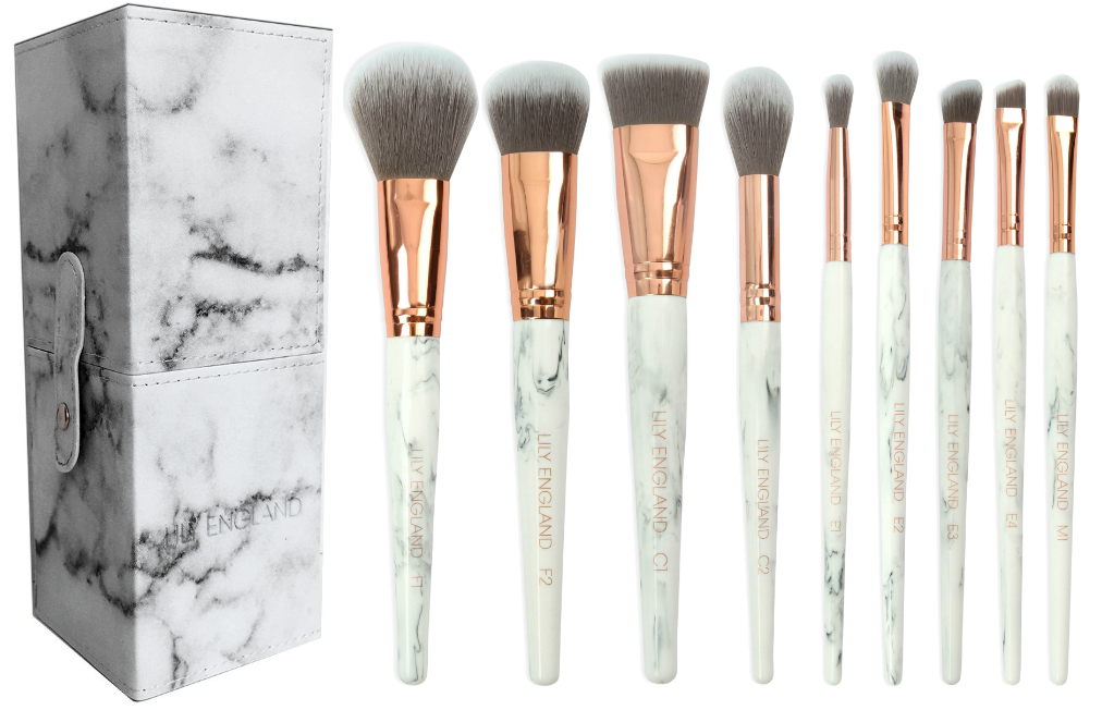 Marble Makeup Brushes Rose Gold Set Lily England