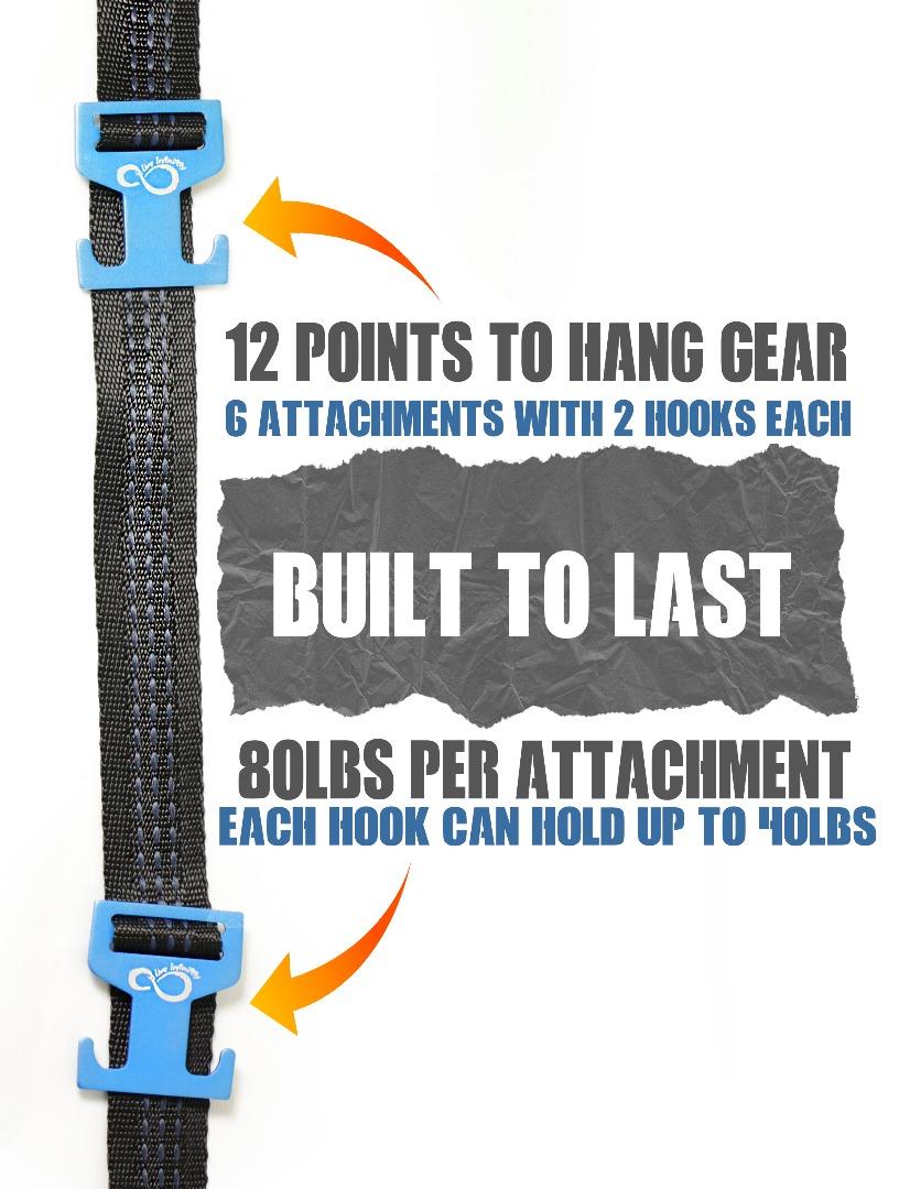 gear hanging straps