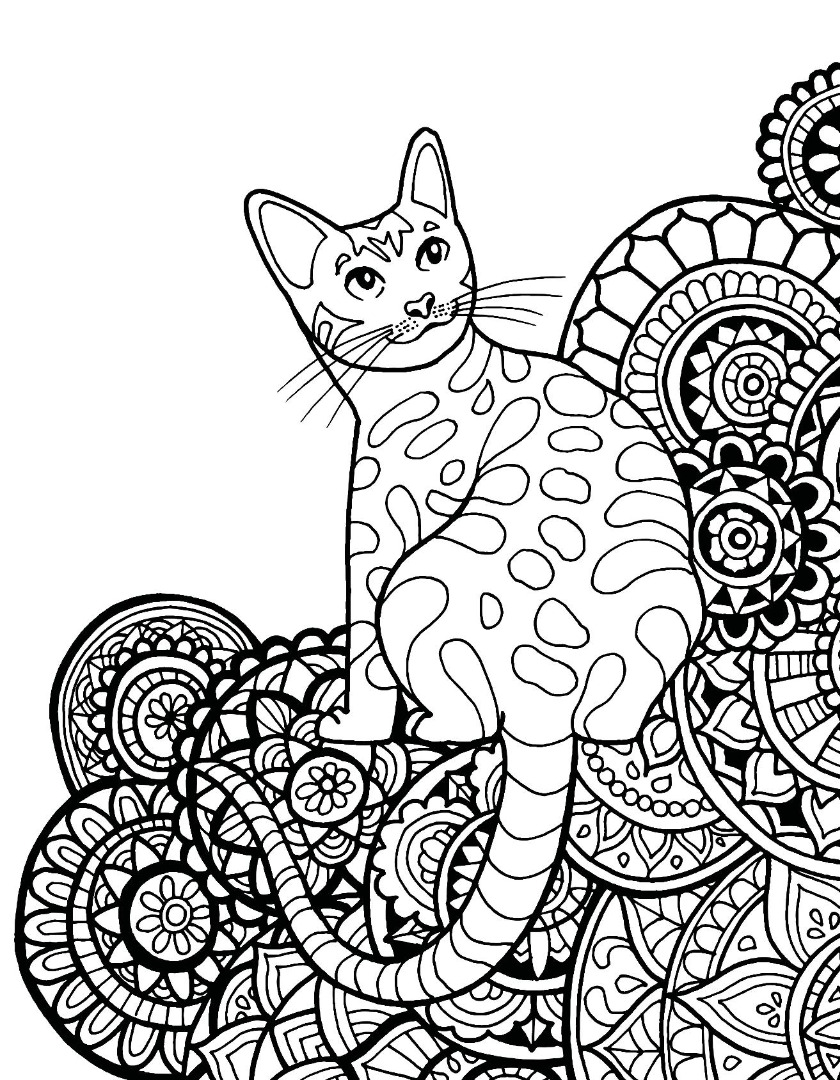 Kitty Cat Mandala Tapestry By Zest For Life Cat Mandala Svg Dxf Eps Plus  Easycutsit Coloring Bird And Cat Mandala Royalty Vector Image Cat Mandala  Bie Ty 28 ...
