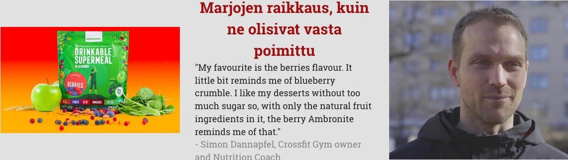 Ambronite Berries flavor testimonial