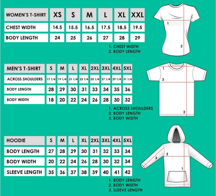 GetShirtz Sizing Guide