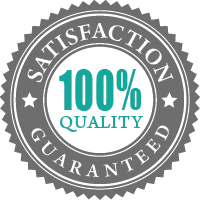 100% quality and satisfaction guarantee