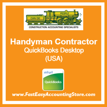 Handyman Contractor QuickBooks Setup Desktop Template USA