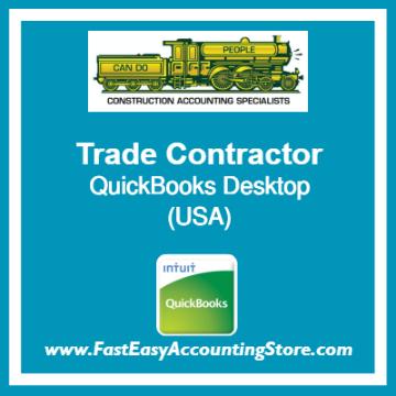 Trade Contractor QuickBooks Setup Desktop Template USA
