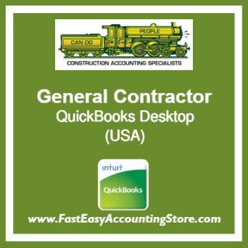 General Contractor QuickBooks Setup Desktop Template USA