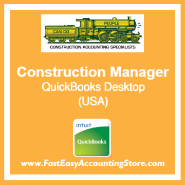 Construction Manager QuickBooks Setup Desktop Template USA