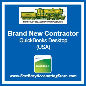 Brand New Contractor QuickBooks Setup Desktop Template USA