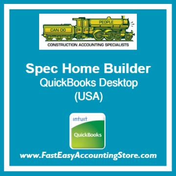 Spec Home Builder QuickBooks Setup Desktop Template USA