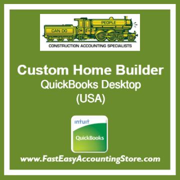 Custom Home Builder QuickBooks Setup Desktop Template USA