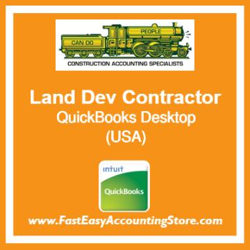 Land Development Contractor QuickBooks Setup Desktop Template USA
