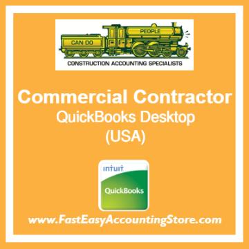 Commercial Contractor QuickBooks Setup Desktop Template USA