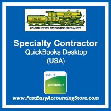 Specialty Contractor QuickBooks Setup Desktop Template USA