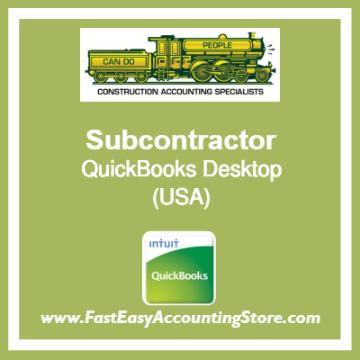 Subcontractor QuickBooks Setup Desktop Template USA