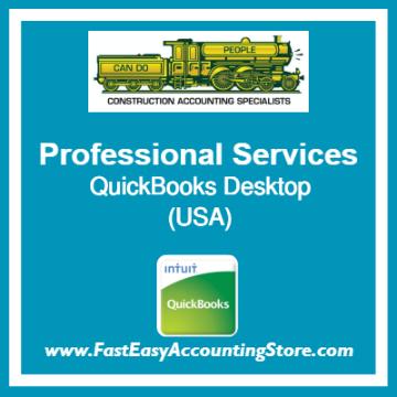 Professional Services QuickBooks Setup Desktop Template USA