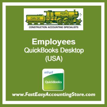 Employees QuickBooks Setup Desktop Template USA