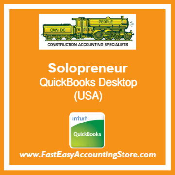 Solopreneur QuickBooks Setup Desktop Template USA