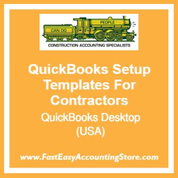 QuickBooks Set Up Desktop Templates For USA Contractors