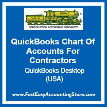 QuickBooks Chart Of Accounts Desktop Templates For USA Contractors