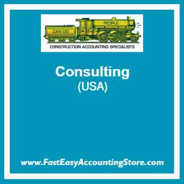 Fast Easy Accounting Store Consulting Services For USA Contractors