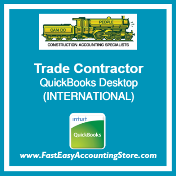 Trade Contractor QuickBooks Setup Desktop Template International