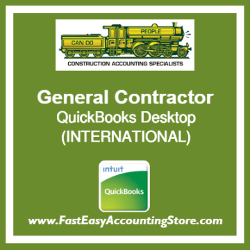 General Contractor QuickBooks Setup Desktop Template International
