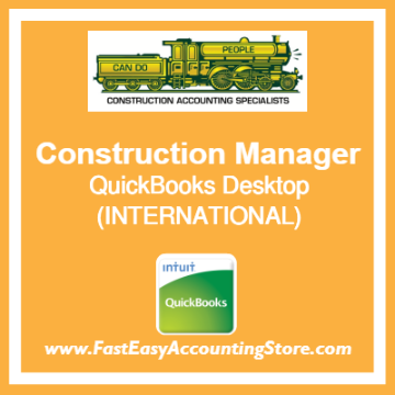 Construction Manager QuickBooks Setup Desktop Template International