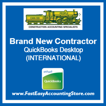Brand New Contractor QuickBooks Setup Desktop Template International