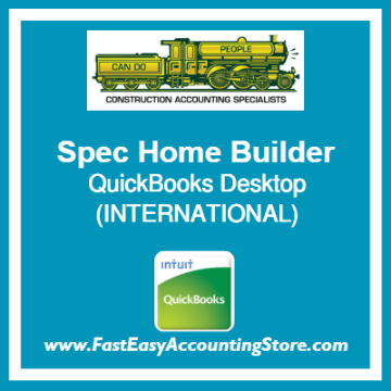Spec Home Builder QuickBooks Setup Desktop Template International